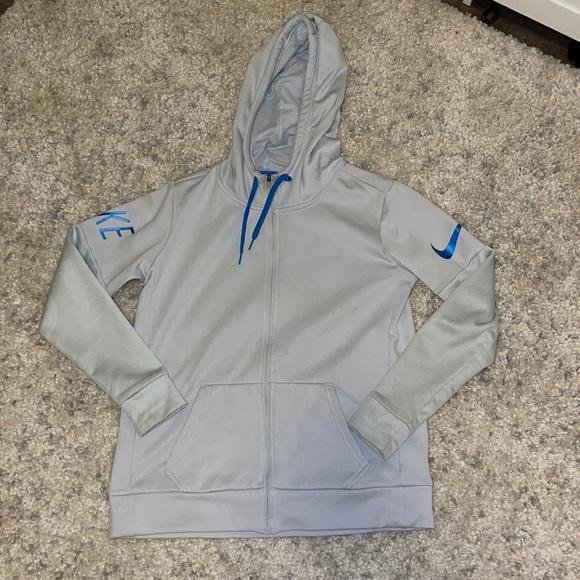 light blue zip up hoodie